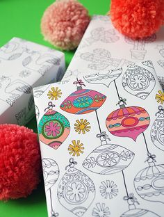 Free Christmas wrapping paper printables