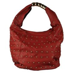 e8133339b3c Red Purses, Red Handbag, Lady In Red, Studs, Red Tote Bag, Madame Red,  Pierced Earrings, Stilettos