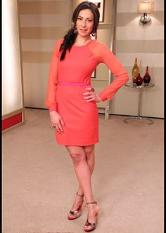 Timo Weiland, coral dress. timoweiland.com http://ow.ly/c0SMX #WNTW