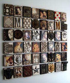 Coal Harbour collection H Chan Plaster Sculpture, Assemblage Art, Box Art, Diy Art Projects, Mixed Media Art, Altered Art, Collage Art, Wall Art Decor, Original Paintings