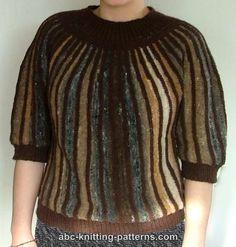 ABC Knitting Patterns - Striped One-Piece Noro Yarn Sweater