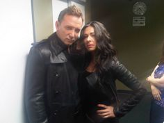 """On set with S, pretending we're shooting """"The Matrix: Restyled."""""""