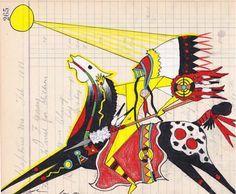 Terrance Guardipee ledger art, Black Bull dff02193891b27fbc1174b378f1408af.jpg 236×194 pixels n.d.