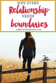 We all have to be intentional about the relationships we have. Every relationship needs boundaries to be nurtured and protected. Click...