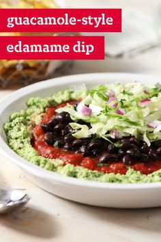 Guacamole-Style Edamame Dip – You don't need avocados to make this ...