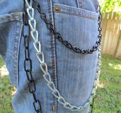 Jean Jewelry Jean Chains Black and Silver J 9 by stevenssteampunk, $20.00