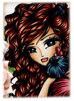 "Kit and Clowder: Aliah ""Aliah"" Tropical Mermaid Digi Stamp HannahLynn.com"