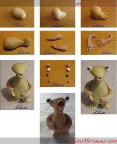 Sid - Ice Age cake topper tutorial