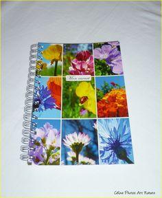 """Carnet de notes artisanal 10x15cm couverture avec des photos de fleurs""""Mon carnet"""" : Carnets, agendas par celinephotosartnature Celine, Artisanal, Notebook, Nature, Photos, Etsy, Google, Day Planners, Handmade Gifts"""