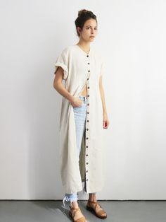 e8c7cfa70a1 Button Up Linen Dress    Vintage 1990 s White Linen Minimalist Dress SOLD Shirt  Dress Button