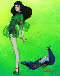 """Jaeda and Jai"" Acrylic and Mixed Media on panel. by Leilani Joy. 2009.  Prints Available: www.Etsy.com/shop/LeilaniJoyArt"