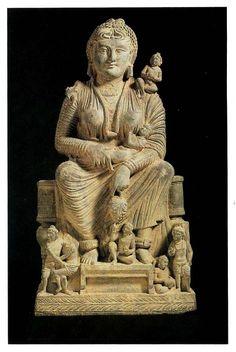 Greco-Buddhist sculpture from Gandhara, Pakistan