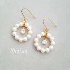 Fancy Earrings, Jewelry Design Earrings, Bead Jewellery, Bead Earrings, Cute Jewelry, Earrings Handmade, Jewelry Crafts, Beaded Jewelry, Jewelery