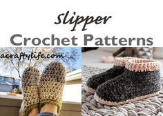 Crochet Hat Patterns – Winter Hat Pattern Tips - A Crafty Life Crochet Ear Warmer Pattern, Crochet Hat Sizing, Crochet Slipper Pattern, Crochet Beanie Pattern, All Free Crochet, Crochet Baby Shoes, Crochet Baby Booties, Crochet Slippers, Crochet Patterns
