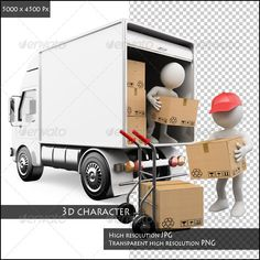 3D People. Workers Unloading Boxes from a Truck  #GraphicRiver         3d white persons unloading boxes from a truck to a hand truck. Rendered at high resolution on a white background with diffuse shadows. The file contains a high resolution JPG and an isolated transparent high resolution PNG .     Created: 19February13 GraphicsFilesIncluded: TransparentPNG #JPGImage HighResolution: Yes Layered: No MinimumAdobeCSVersion: CS PixelDimensions: 5000x4500 Tags: 3d #Unloading #boxes #cardboard…