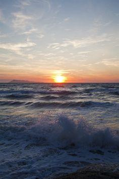 Sunset at Logas Beach (the Sunset Beach), Corfu, Greece | ©2016GinaHarkinsPhotography