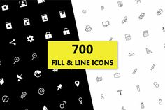 Check out Icons - 700 Various Icons by DeepDesign on Creative Market