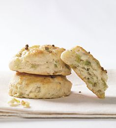 Ramps and Buttermilk Biscuits with Cracked Coriander - Bon Appétit