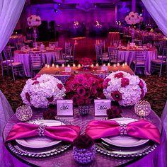 A Gorgeous Pink, Red & Purple Wedding Reception Decor By Prashe ...