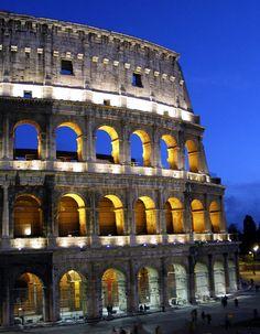 Rome Colosseum at Twilight