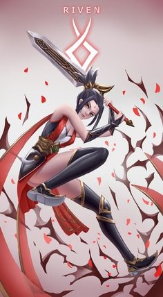 League Of Legends Heroes, Katarina League Of Legends, Akali League Of Legends, Champions League Of Legends, Lol Champions, League Of Legends Characters, Riven Lol, Ahri Lol, Game Character Design