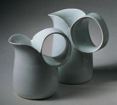 JANE REUMERT | These pieces create a new shape for a common piece. I love the simplicity and how the artist puts the focus on the round handles.