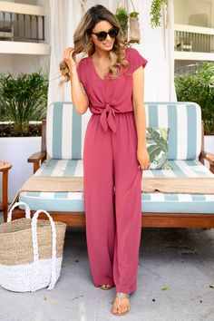 After Sunset Jumpsuit - Mauve - #jumpsuit #spring #springfashion #fashion