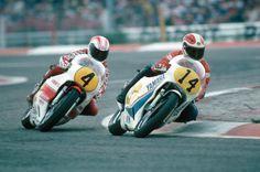1980 Jack Middelburg and Johnny Cecotto Paul Ricard Racing Motorcycles, Jumping Jacks, Road Racing, Motogp, Grand Prix, Yamaha, Bike, Pilots, Classic Motorcycle