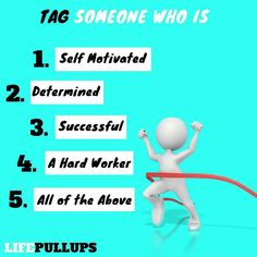 Tag someone who is one or all of these!!