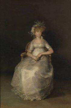 Francisco Goya 217 / 390 Portrait of Maria Teresa of Ballabriga, Countess of Chinchon Spanish Painters, Spanish Artists, Francisco Goya Paintings, Art Espagnole, Francisco Jose, National Art Museum, Fashion Painting, Woman Painting, Lovers Art