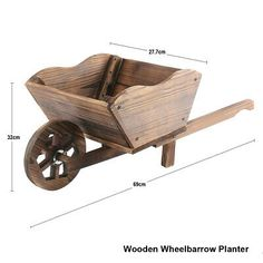 Wheelbarrow Planter, Planter Boxes, Wood Projects, Woodworking Projects, Wood Cart, Wooden Garden Planters, Flower Cart, Wooden Hand, Popular Woodworking