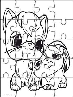 Printable jigsaw puzzles to cut out for kids Littlest pet shop 20 Coloring Pages
