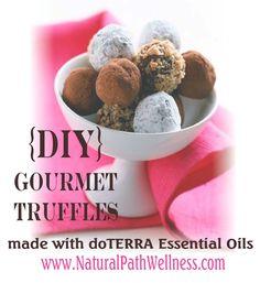 DIY Gourmet Truffles made with doTERRA essential oils