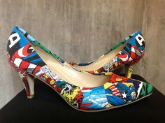 Comic book wedding shoes