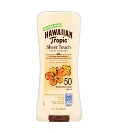 Outdoor elements like the sun and wind can really do a number on your skin, dehydrating it. And even though sunscreen in general is hydrating, this formula ensures that your skin will stay moisturized thanks to the formula's shea butter complex and mango fruit extract.Hawaiian Tropic Sheer Touch Ultra Radiance Lotion Sunscreen SPF 50, $11, drugstore.com  -Cosmopolitan.com