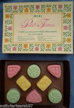 AVON Vintage PETIT FOURS Soap Box Set 8 Delectable Sweet Shaped Soaps BNIB | eBay