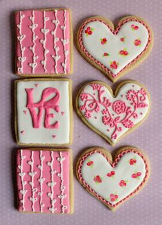 Heart cookies, Valentine cookies and Valentines day cookies