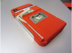 iphone 4? maximize it's use with a wallet, money clip, bottle opener case