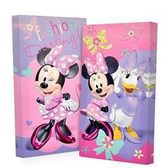Disney Minnie Mouse Glow in the Dark 2-Pack Canvas Wall Art - Walmart.com
