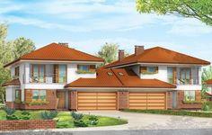 Projekt Kasjopea 2 został zaprojektowany jako budynek bliźniaczy. Dwie piętrowe połówki bliźniaka zostały połączone dwustanowiskowymi garażami przekrytymi dwuspadowym dachem. Dzięki temu obie części budynku są od siebie wizualnie oddzielone - nie stanowią jednej, zlewającej się bryły.