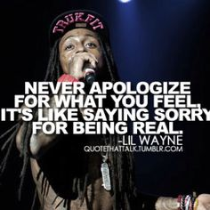 I'll be the first to admit to not being a Lil Wayne fan, but this is deep and meaningful.
