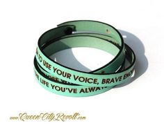 Personalized Leather Wrap Bracelet, Mint Green | Made on Hatch.co