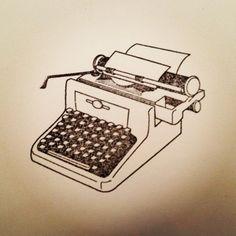 Typewriter Stationary Set // Handmade // Antique Style Typewriter. $5.00, via Etsy.