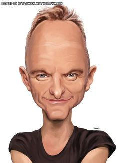 """""""Sting"""" (Caricature) http://dunway.com/"""