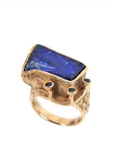 Laura Volpi Ring Terra with Lapis and Sapphires