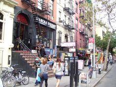 Fine grain retail and dense midrise apartment buildings create a vibrant walker's paradise in New York City's Alphabet City.