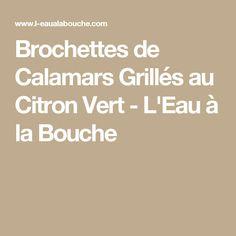 Brochettes de Calamars Grillés au Citron Vert - L'Eau à la Bouche