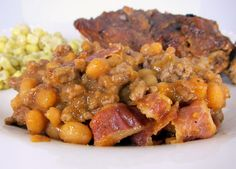 Ground Beef & Baked Bean Casserole - made 7.23.12 it's ok.  easy enough to make.  might make for a bbq or something - Kimberly