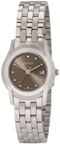 Gucci Watch , Gucci Women's YA055523 G-Class Brown MOP Dial 11 Diamonds Watch