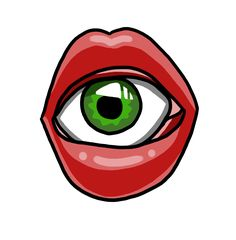 #red #lips #mouth #eye #drawing #art #tattoo #design
